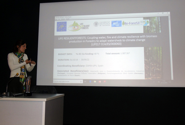 "María González (Re-ForeST) presentado el proyecto ""LIFE RESILIENT FORESTS"""