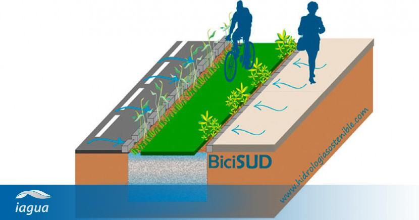 64ba0519b4187 BiciSUD, el primer carril bici que gestiona el agua de lluvia   iAgua