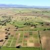 Panorámica de la finca de La Higueruela con áreas de cultivo experimentales. Carlos Lacasta