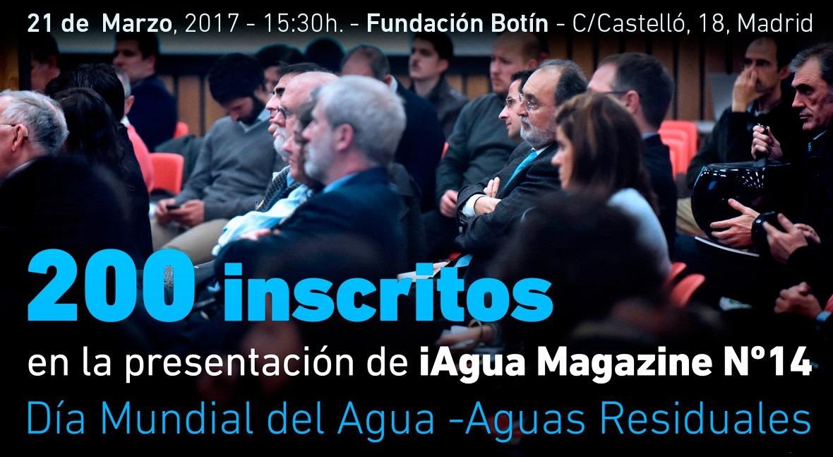 200 inscritos presentación iAgua Magazine 14
