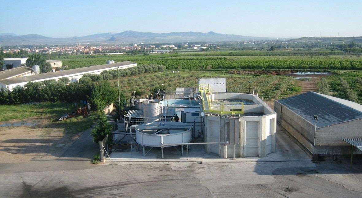 PTAR de Aqwise en una fábrica de zumo concentrado en España.