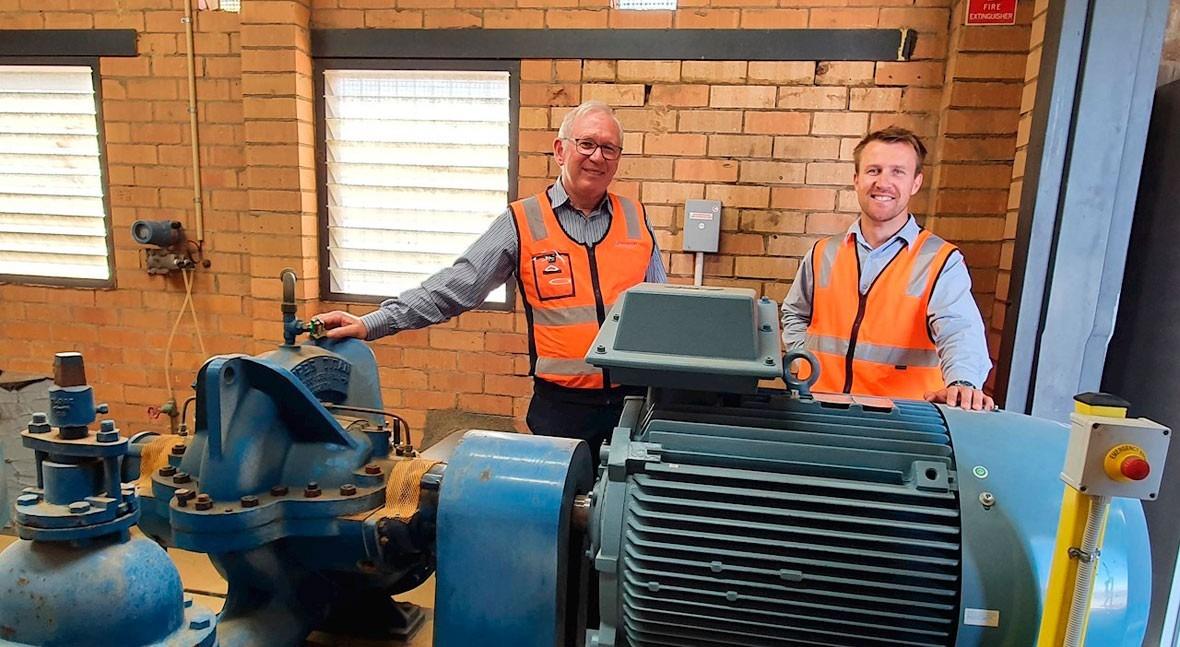 ABB mejora eficiencia energética planta abastecimiento agua Albury