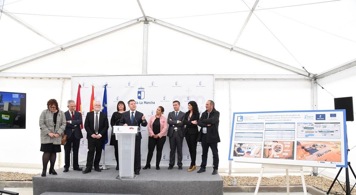 presidente Castilla- Mancha inaugura depuradoras Barrax y Balazote