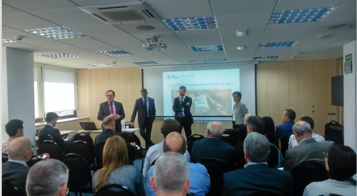 Banco Europeo Inversiones expone soluciones financieras aplicadas al sector agua
