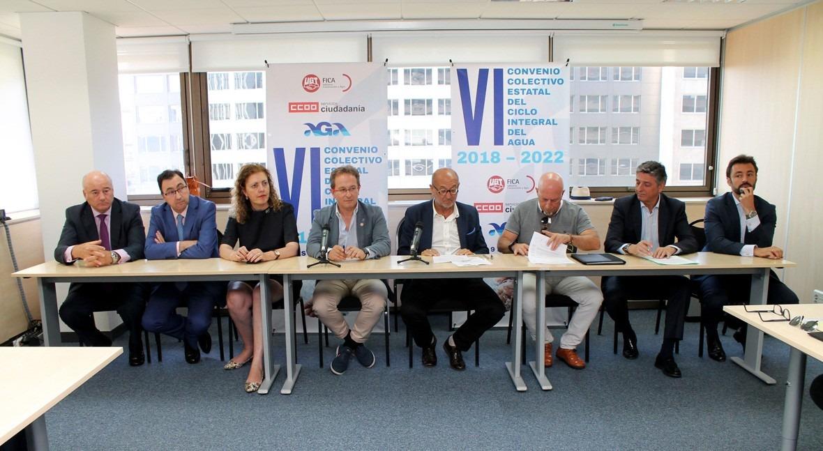 Firmado VI Convenio Colectivo Estatal Ciclo Integral Agua 2018-2022