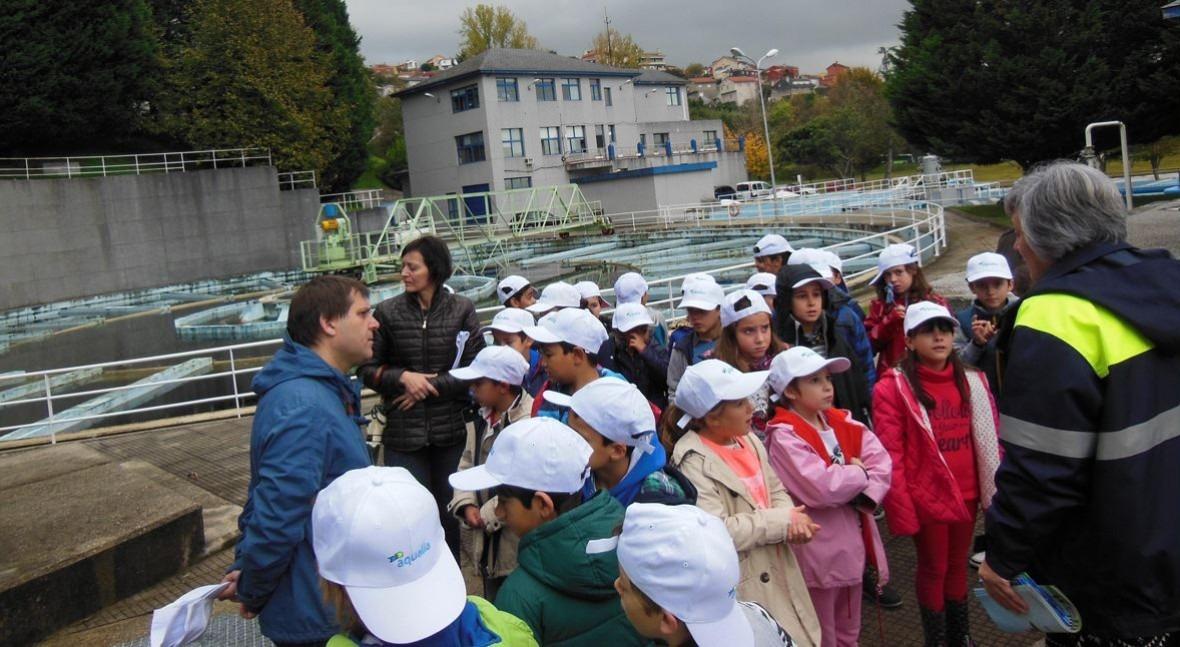 Este curso escolar, cerca 1.000 niños visitarán instalaciones Aqualia Vigo