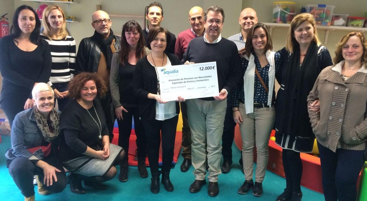 Aqualia colabora Asociación Personas Necesidades Especiales Eivissa y Formentera