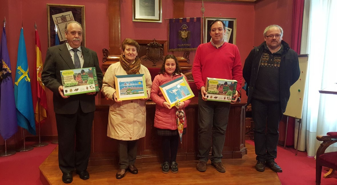 Dos niñas Villaviciosa finalistas Concurso internacional dibujo infantil Aqualia