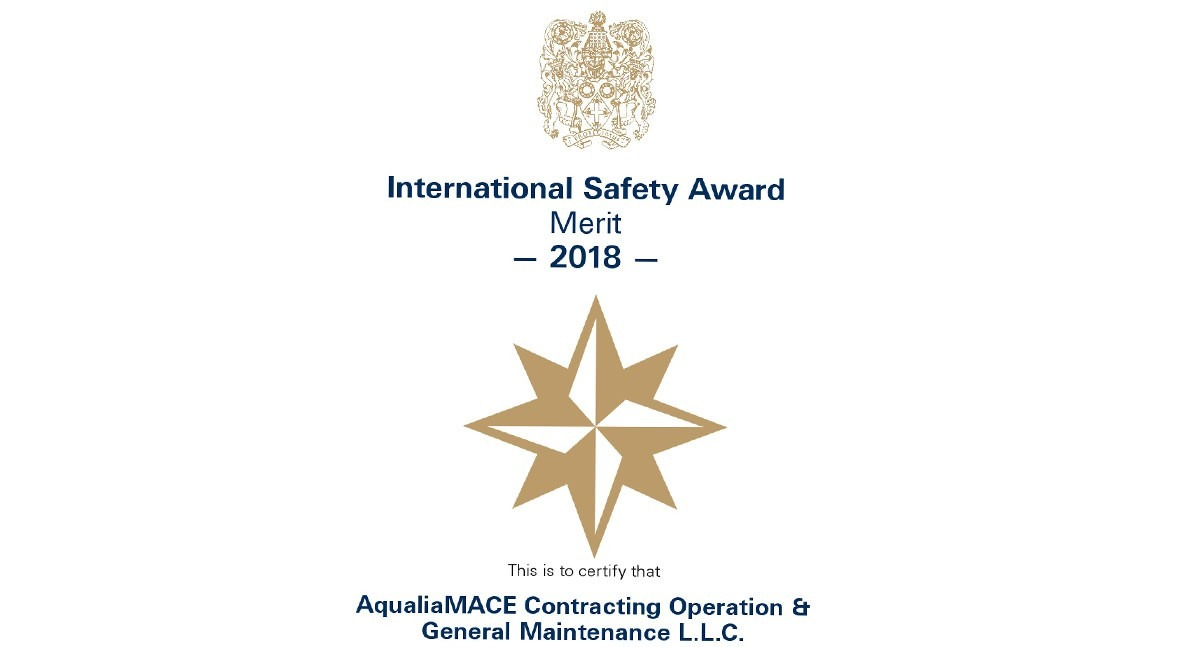 Aqualia recibe International Safety Award seguridad trabajo