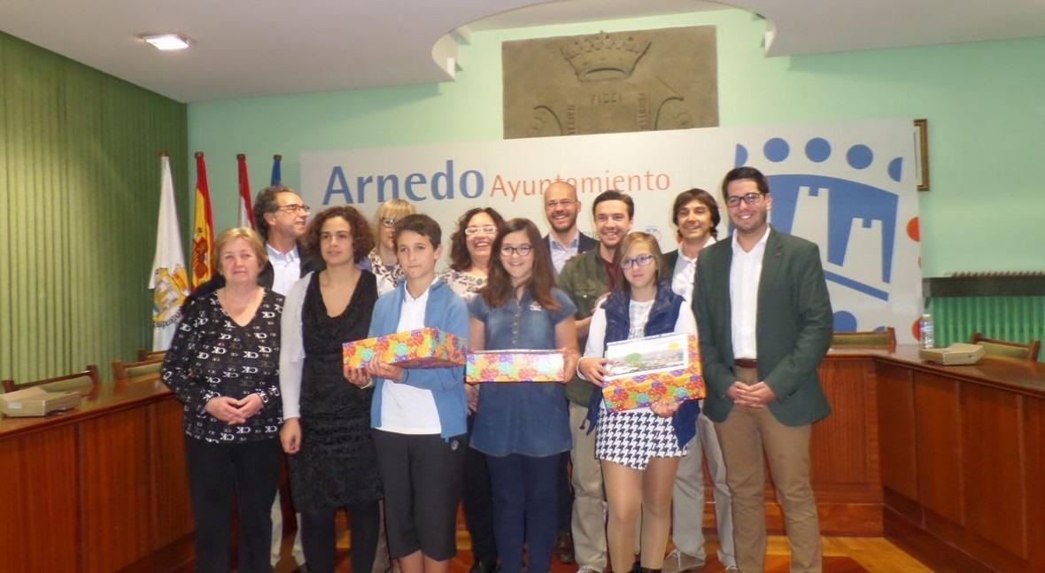 Tres escolares Arnedo, finalistas Concurso internacional dibujo infantil Aqualia
