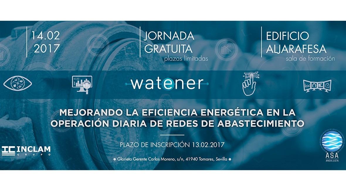 WatEner, solución tecnológica empresas abastecedoras agua, se presentará Andalucía