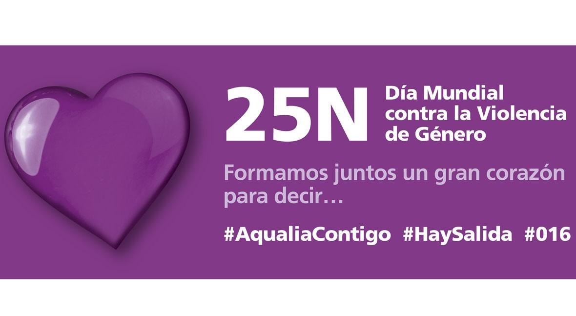 Aqualia se suma lucha violencia género campaña #AqualiaContigo