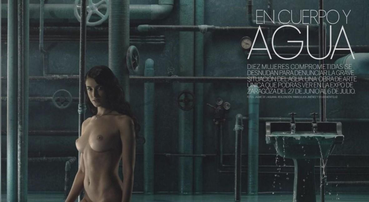 "Diez mujeres se desnudan "" amor al agua"" nuevo número Elle"