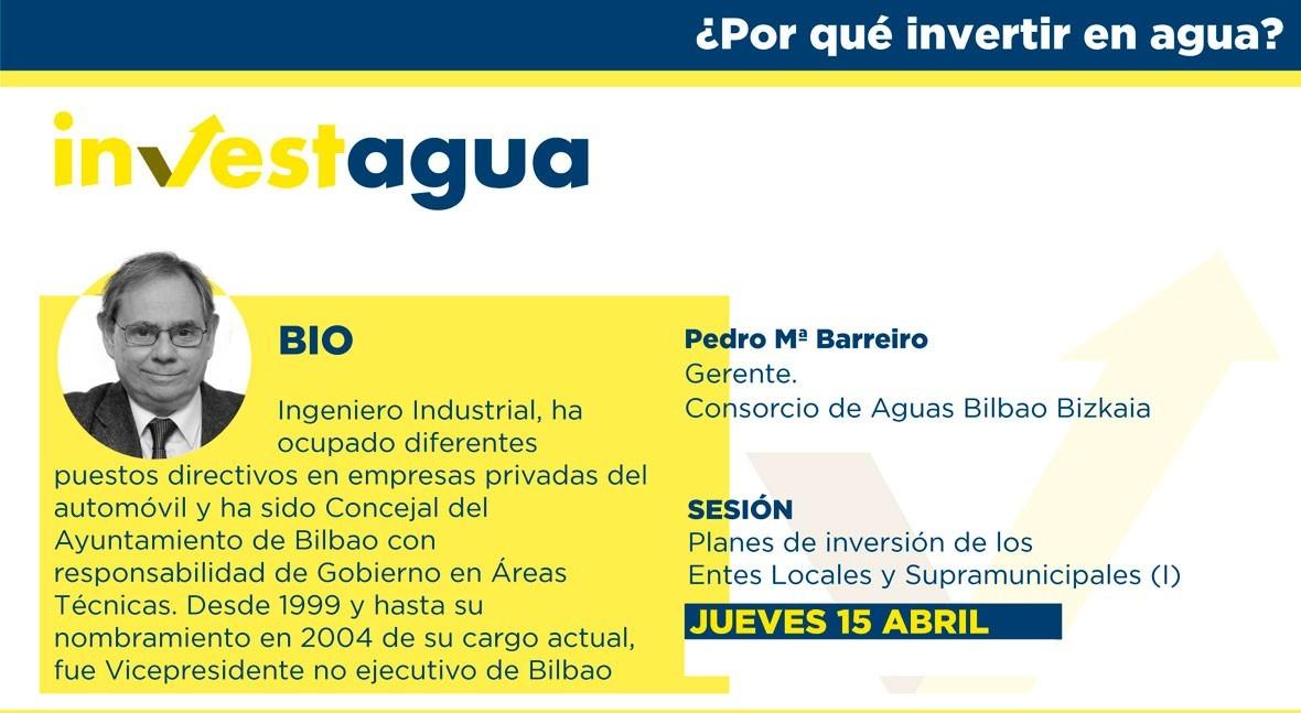 Pedro Barreiro pide INVESTAGUA esfuerzo tarifario acometer obras necesarias