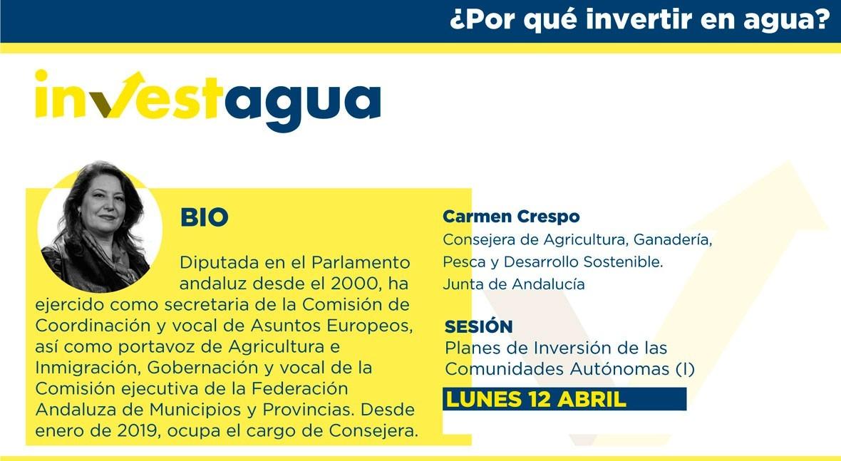 Carmen Crespo destaca INVESTAGUA 480 millones € inversión infraestructuras agua