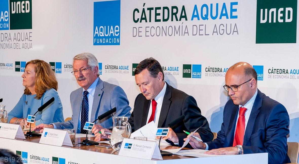 UNED y Fundación Aquae entregan Premios Cátedra Aquae Economía Agua 2017