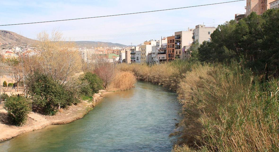 El río Segura a su paso por Cieza (Wikipedia/CC).