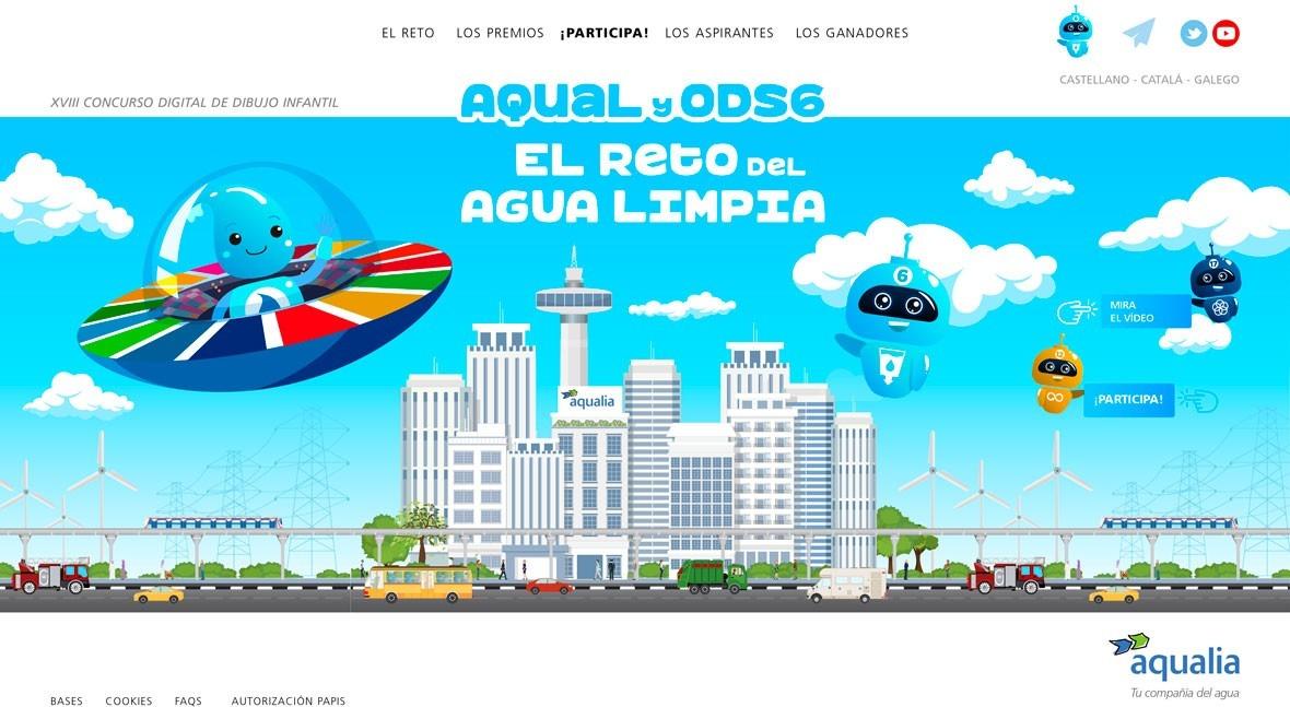 Aqualia acerca ODS y Agenda 2030 colegios 18ª edición Concurso Infantil