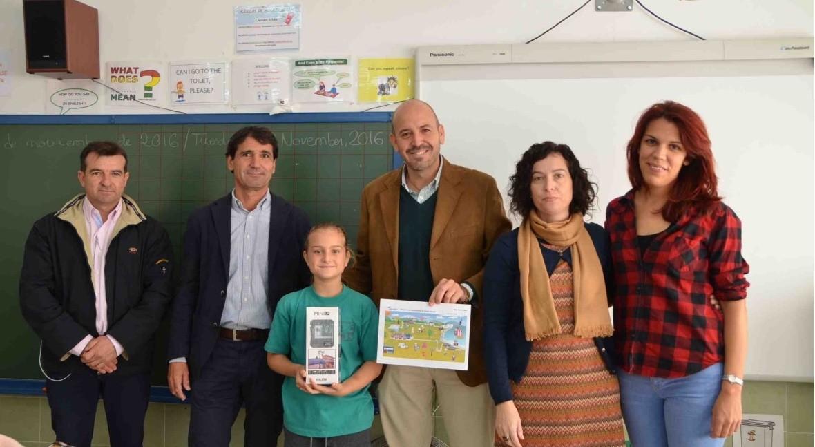 alcalde Cártama entrega premios Concurso Internacional Dibujo Infantil Aqualia
