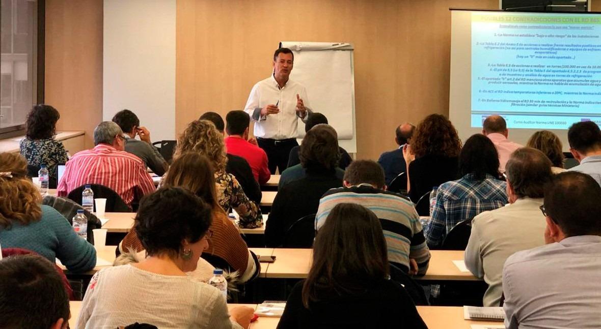 sector muestra gran interés Curso Auditor Prevención Legionella Norma UNE 100030