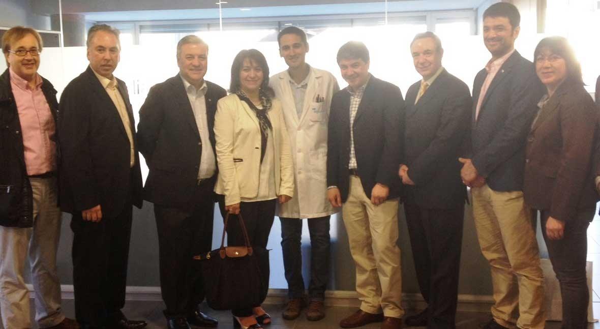 delegación chilena visita laboratorio Aqualia Lleida