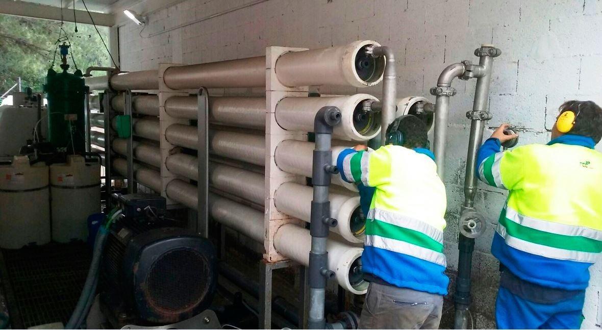 trabajos Aqualia desalinizadora Ses Eres mejoran calidad agua Sant Josep