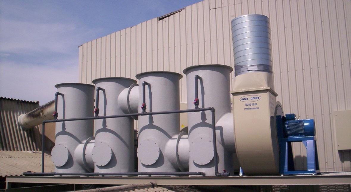 Desodorización gases y malos olores EDAR, EBAR e Industrias
