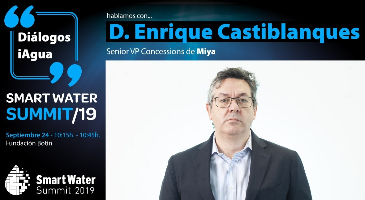 Enrique Castiblanques, Miya, protagonizará Diálogo iAgua Smart Water Summit