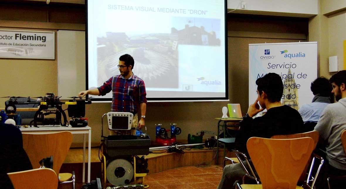 Estudiantes Oviedo conocen dispositivos hidráulicos redes agua
