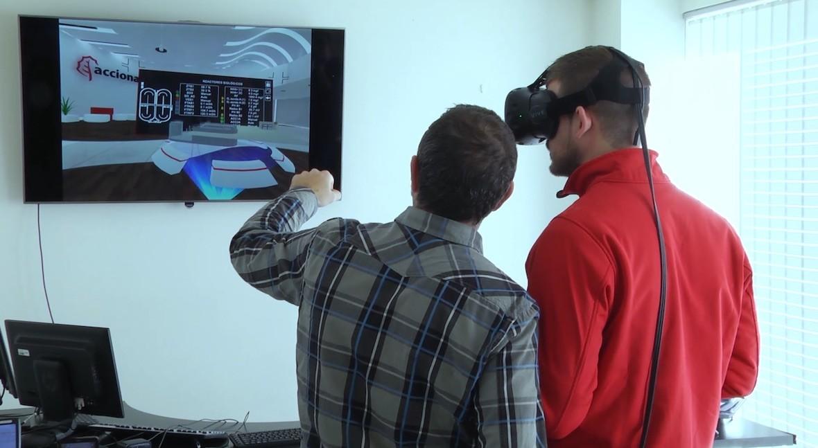 realidad virtual y realidad aumentada son hecho depuración agua Valdejalón