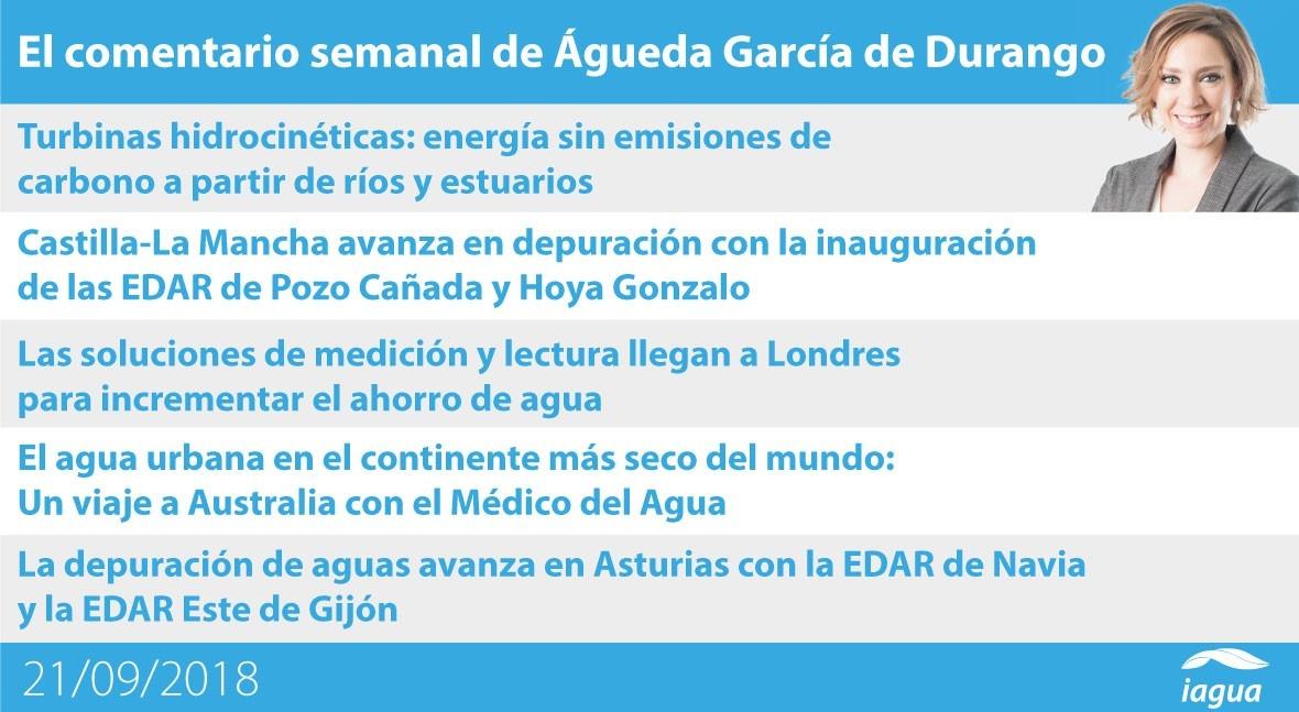 avance depuración España y eficiencia Londres, lo mejor semana iAgua