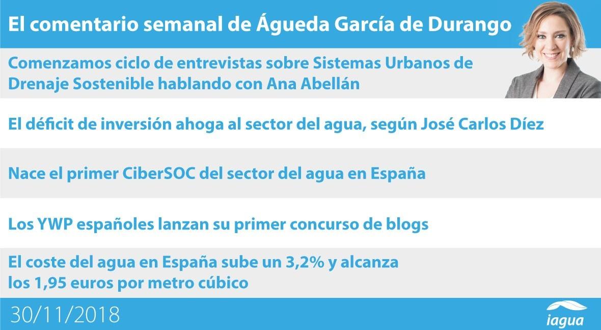 primer CiberSOC sector agua y concurso blogs YWP, lo mejor semana iAgua