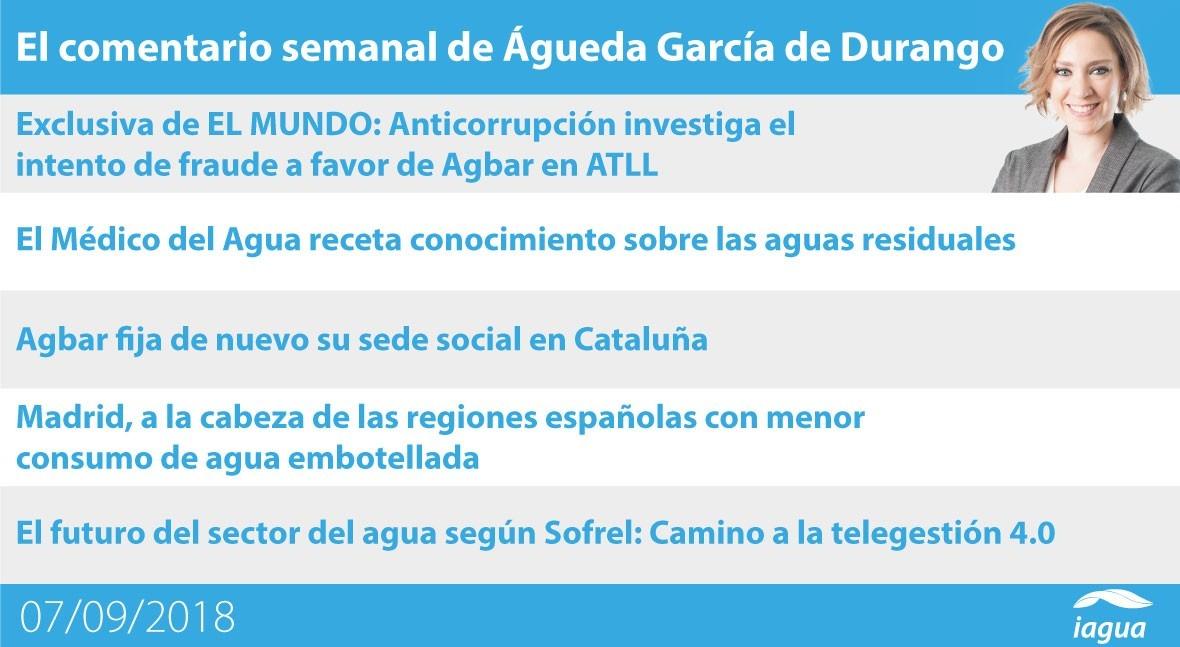 investigación fraude ATLL y agua grifo Madrid, lo mejor semana iAgua