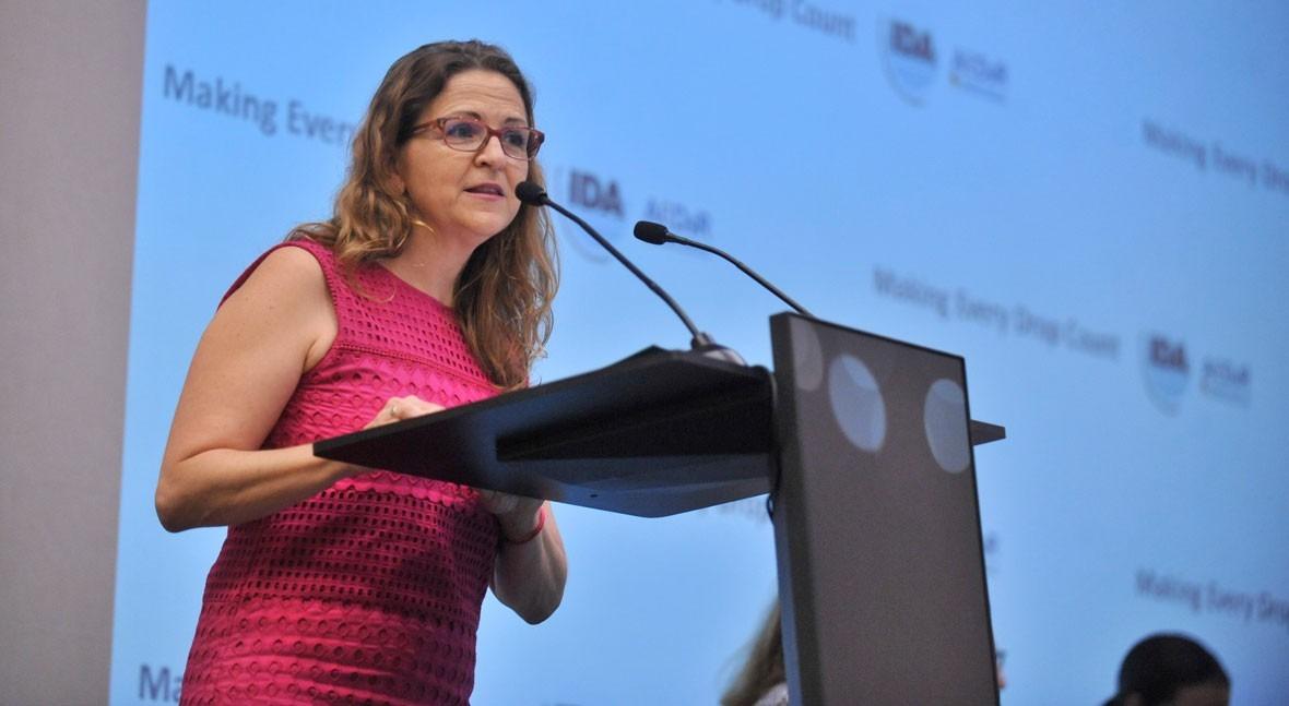 """Elena Cebrián: """"Hace falta normativa, inversiones y gobernaza disponer agua regenerada"""""""