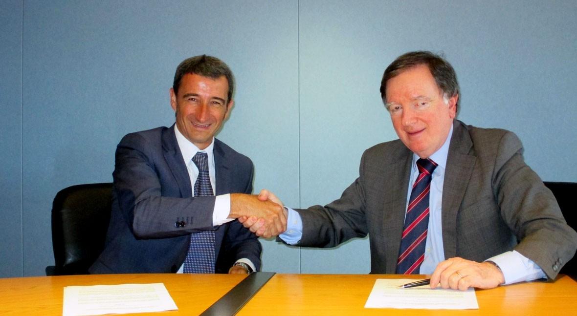 Esteban Cuesta, director de Efiaqua, y Fernando Morcillo, presidente de AEAS