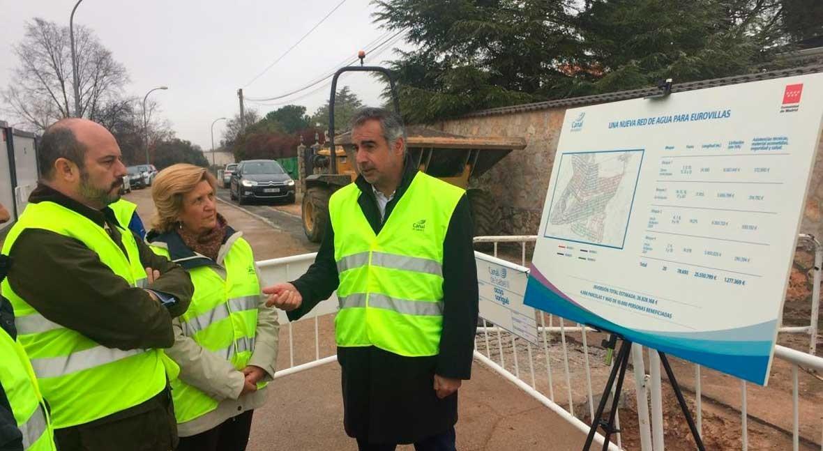 Canal inicia obras nueva red abastecimiento agua potable Eurovillas