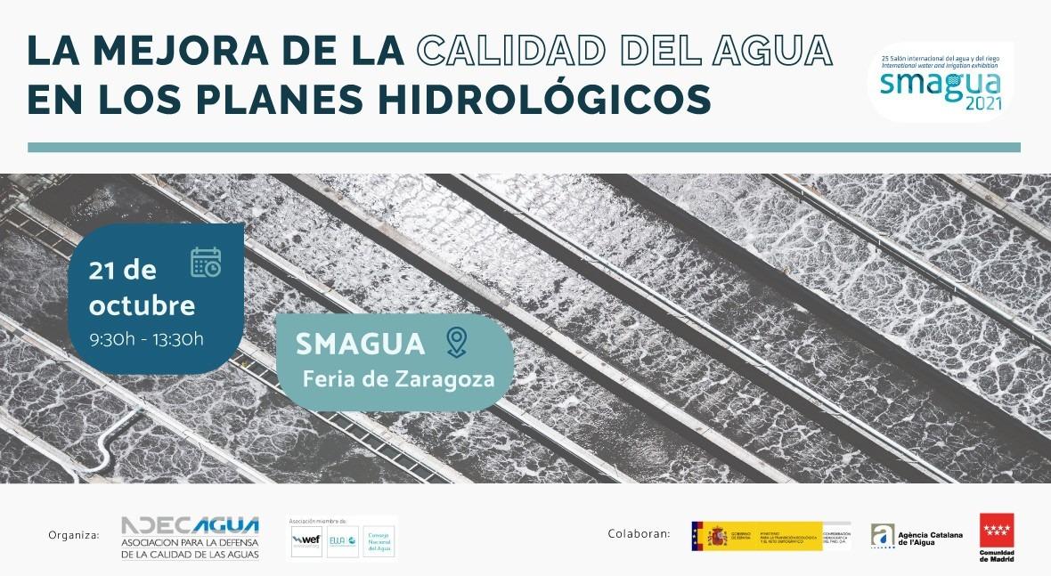 Jornada Técnica ADECAGUA SMAGUA21 mejora calidad agua Planes Hidrológicos
