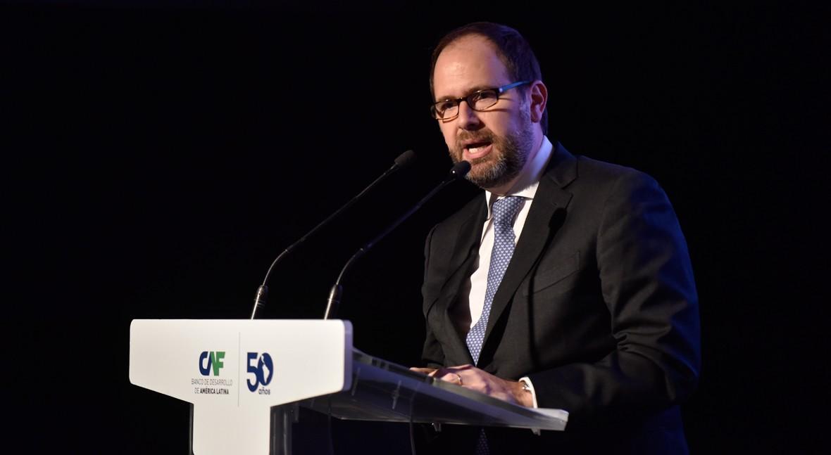 Julián Suárez, vicepresidente de Desarrollo Sostenible de CAF