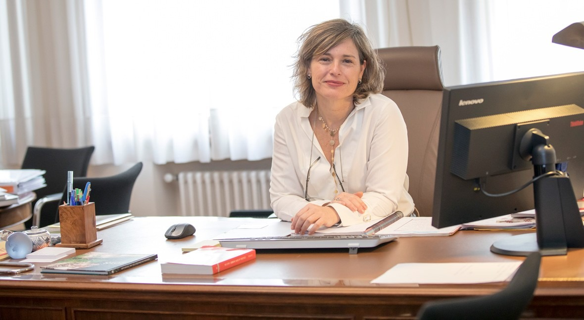 Mª Dolores Pascual, presidenta de la Confederación Hidrográfica del Ebro.