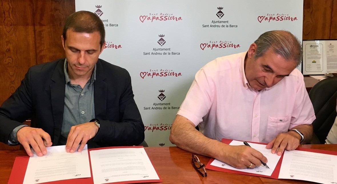 Sant Andreu Barca y Aqualia renuevan Fondo Solidaridad familias recursos