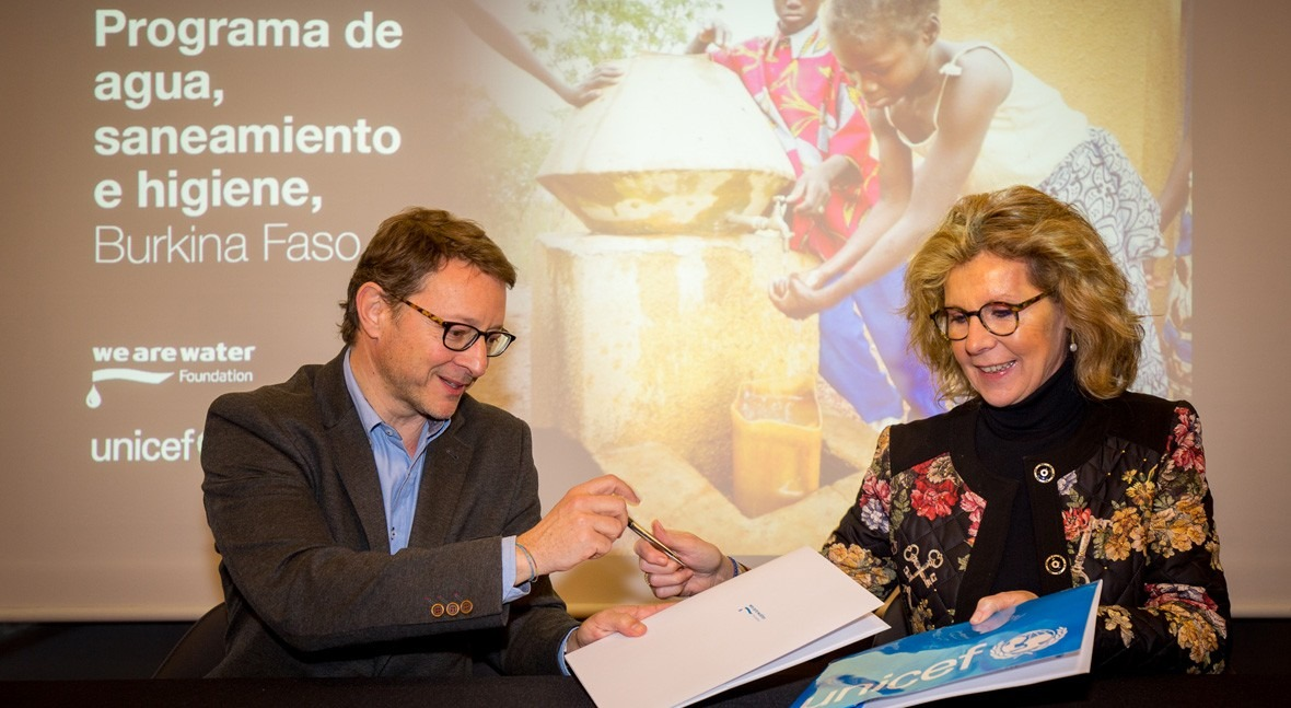 Fundación We Are Water y UNICEF firman nuevo convenio colaboración