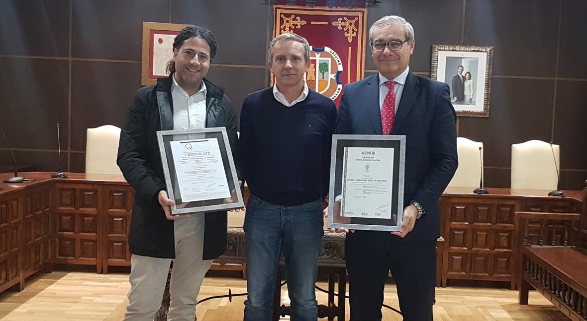 Gestagua presenta Madridejos certificado cumplimiento norma UNE- ISO 50001