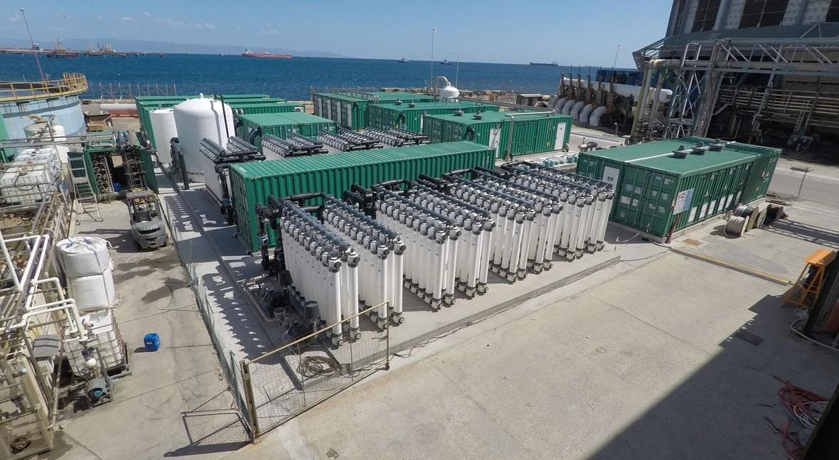 ACCIONA construye Cerdeña, Italia, desaladora uso industrial más grande Mediterráneo