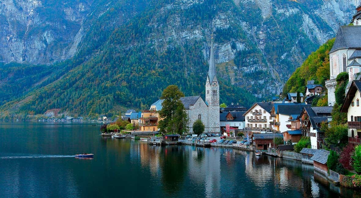 Lago Hallstatt, acuático cuento hadas