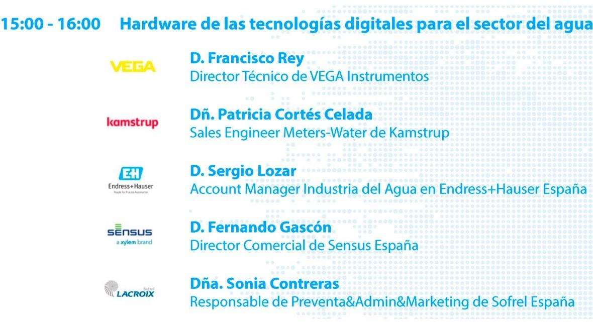 Hardware tecnologías digitales sector agua, #SmartWaterSummit