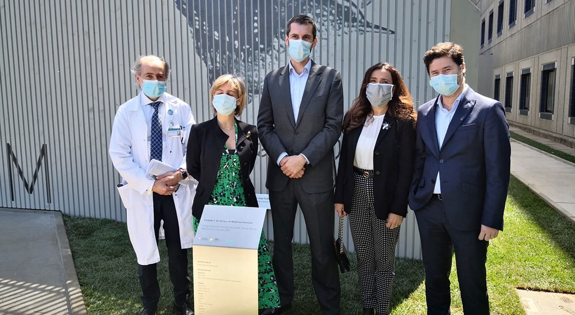 Miya, donante nueva Unidad Cuidados Intensivos Hospital Pedro Hispano Portugal