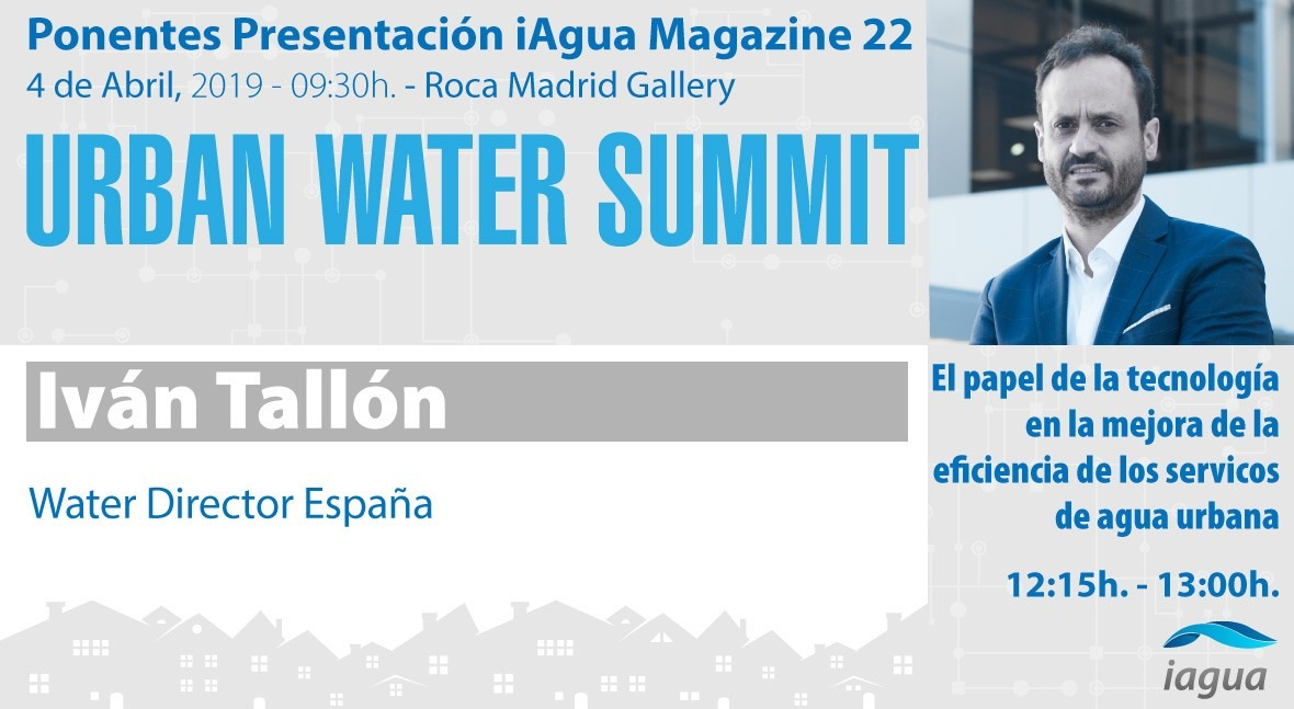 Iván Tallón Schneider Electric será ponentes Urban Water Summit 2019