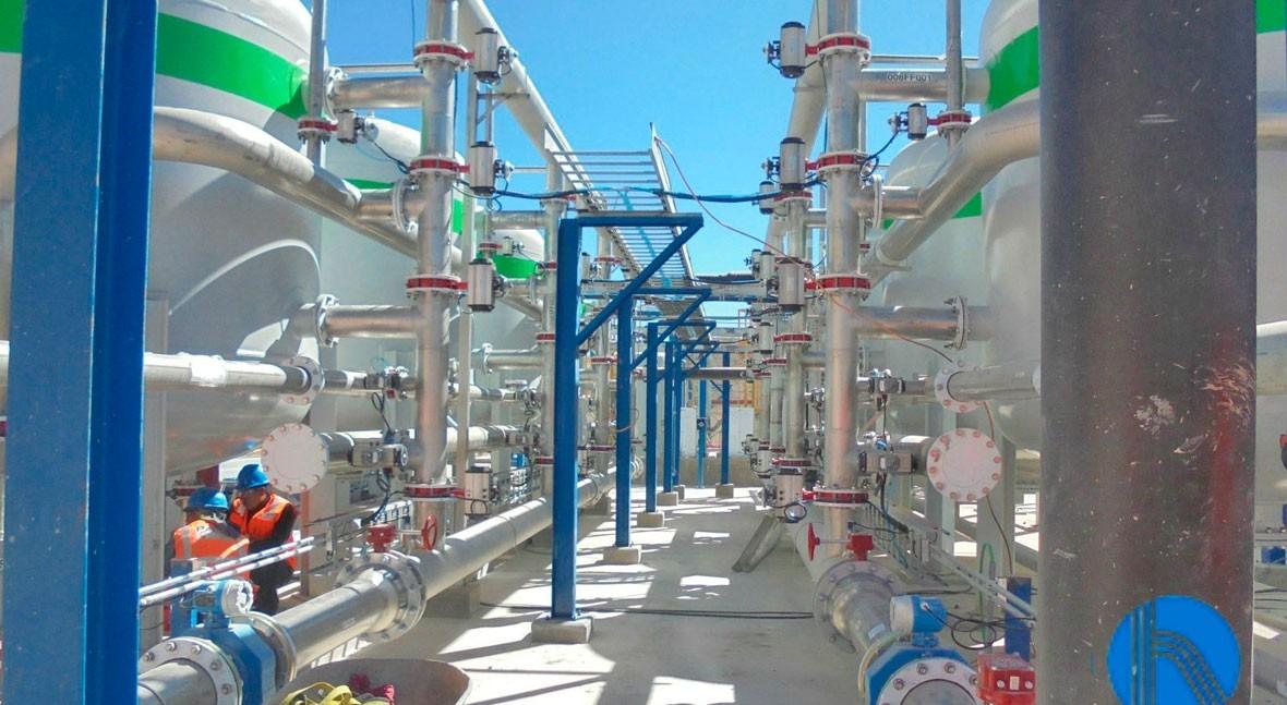 Pretratamiento agua filtración tricapa minera Perú