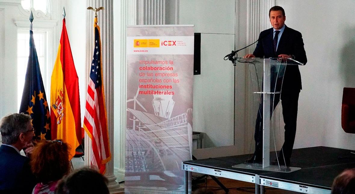 Carlos Cosín, CEO Almar Water Solutions, participa evento ICEX Washington