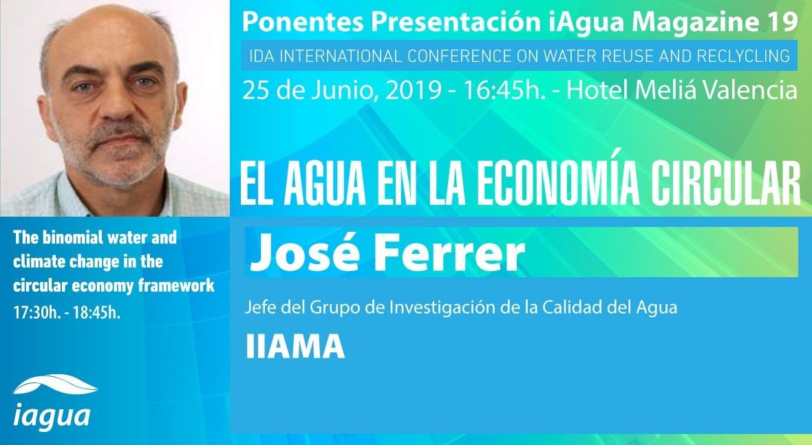 José Ferrer (IIAMA) participará como ponente presentación iAgua Magazine 19
